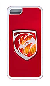 5C Case, iPhone 5C Case Galaxy Pattern Dodge Viper Car Logo 14 iPhone 5C Shoockproof White Soft Case Full Body Hybrid Impact Armor Defender Cover protective Case for iPhone 5C