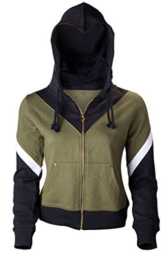 GOTEDDY Womens Halloween Cosplay Hoodie Zip Up Top Hooded Sweater S]()