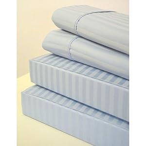 stripes light blue 600 thread count olympic. Black Bedroom Furniture Sets. Home Design Ideas