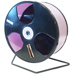"Rodent - Semi-Enclosed Exercise Wodent Wheel 'Wobust' 12"" Choose Color (Lavender)"
