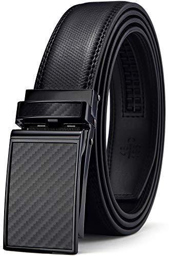 (Mens Belt,Bulliant Leather Click Ratchet Belt For Mens Dress Casual Golf Belt,Size-Customized)