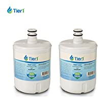 Tier1 RWF1050 LG Replacement Refrigerator Water Filter for LG LT500P, 5231JA2002A ADQ72910907, ADQ72910901, GEN11042F08, 9890, 469890, 469890, GEN11042FR08 2 Pack