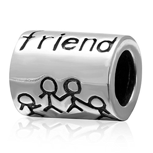 Ollia Jewelry 925 Sterling Silver Beads Good Friends Hand in Hand Charm Forever Best Friend Firm Friendship Charms