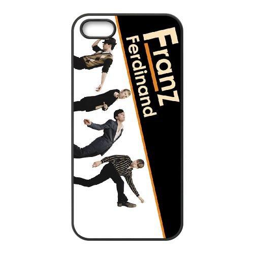 Franz Ferdinand 002 coque iPhone 4 4S cellulaire cas coque de téléphone cas téléphone cellulaire noir couvercle EEEXLKNBC25122