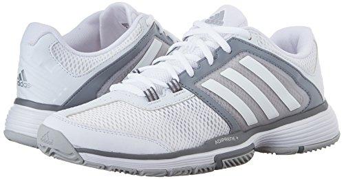 Adidas Performance Women's Barricade Club Training Shoe,White/White/Clear Grey,7 M US