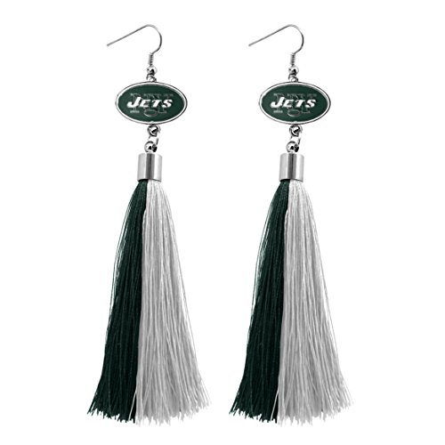 NFL New York Jets Tassel Earrings ()
