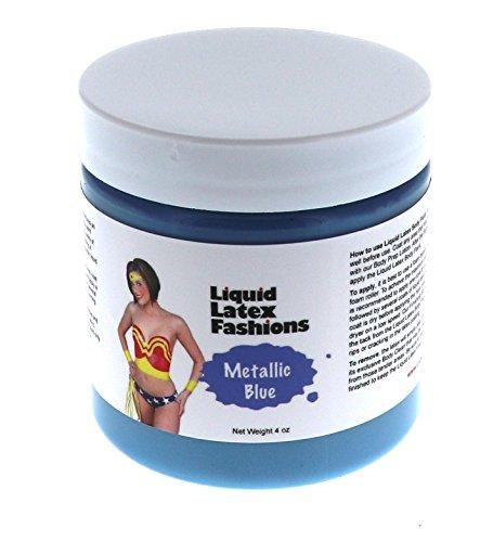 Metallic Blue Liquid Latex Body Paint - 4 Ounces