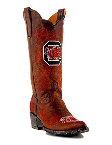 NCAA South Carolina Fighting Gamecocks Women's 13-Inch Gameday Boots, Brass, 8 B (M) US