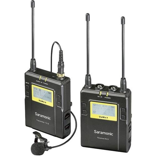 Saramonic UwMIC9 96-Channel Digital UHF Wireless Lavalier Microphone System, Includes RX9 Portable Receiver, TX9 Bodypack Transmitter by Saramonic