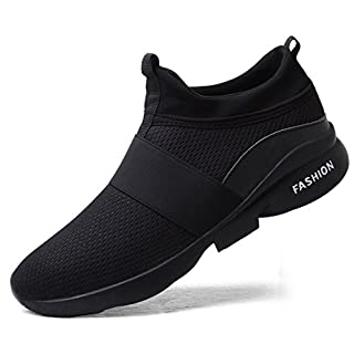Sport Walking Shoes for Men mesh Breathable Comfort Fashion Running Shoes Athletic Sneakers Man Runner Jogging Shoes Casual Tennis Trainers All Black Size 9.5