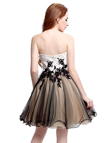 9251a6d39db Home Prom Dresses Belle House Lace Tulle Strapless Homecoming Dresses Short  Black Prom Dresses 2018 for Women A Line Party Ball Gown Beaded.   