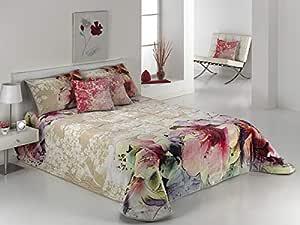 Mora A01-02 5 Piece Velvet Blanket Comforter Set - 220 x 240 cm - Beige