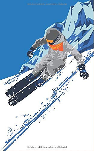 Wintersport – Modern Ski Alpin Collection: BUJO Journal- Moodboard – Gedankenbuch: Notizbuch - Tagebuch - Passwortbuch - Notizheft - Sketchnotes - ... A5 - Softcover – Punkteraster - Dot Grid] por Geschenke Almanach