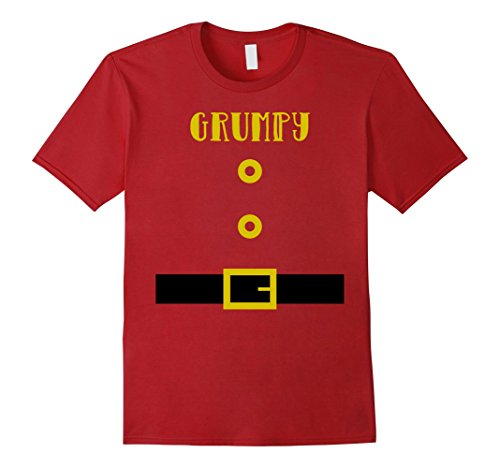 Dance Crew Costume Ideas (Mens Grumpy Dwarf Costume Kindergarten Teacher Tee Shirt 2XL Cranberry)