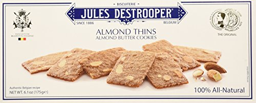 - Jules Destrooper Butter Almond Cookies, 6.1 Ounce