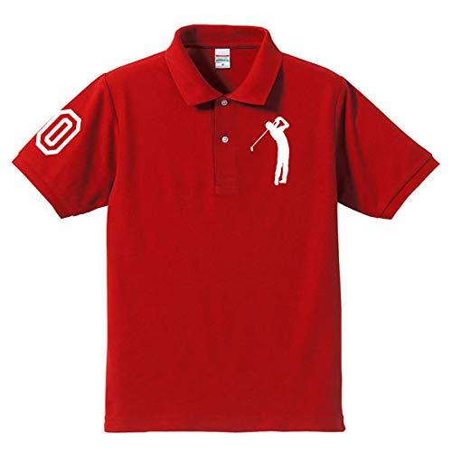 ゴルフ 60 還暦ポロシャツ レッド(ホワイト)大人用 大人用 XL(2L)