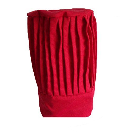 Tall Chef Red Hat by Sunrise Kitchen Supply
