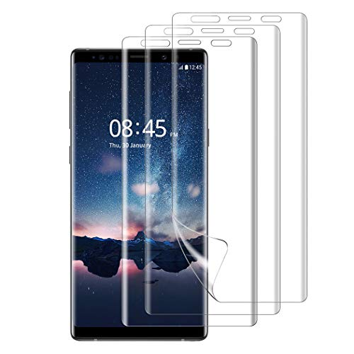 Samsung Galaxy note 9 Screen Protector, Besiva [3-Pack] Full Coverage Liquid Skin Screen Protector Case-Friendly Anti-Bubble HD Clear Flexible Film for Samsung Galaxy note 9