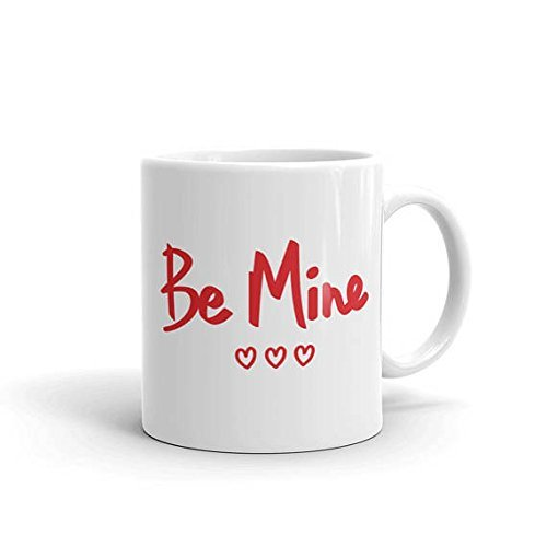 Be Mine Mug, Valentine's Day Mug, Heart Mug, Love Mug Valentine, Valentine's Day Gift, Handwriting Mug, Gift for Boyfriend, Gift for GF, 11oz 15oz