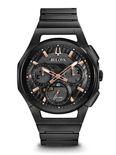 Bulova 98A207 CURV Men's Watch Black 44mm Black Ip Stainless Steel
