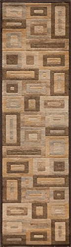 Momeni Rugs DREAMDR-02BRN2376 Dream Collection, Contemporary Area Rug, 2'3
