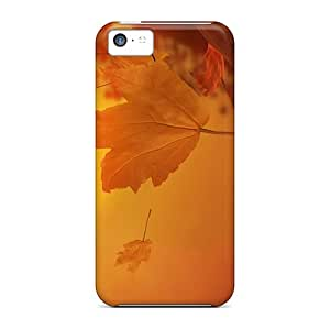 Tpu Hkeller Shockproof Scratcheproof Autumn Leaves Hard Case Cover For Iphone 5c