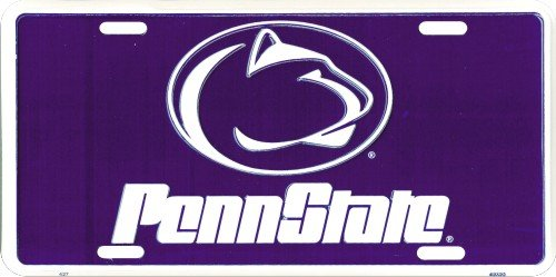 HangTime Penn State (Blue background) embossed metal auto tag