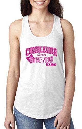 Cheerleader Bow 2 Toe Cheerleading Song Cheerleader Costume Bows Women Tops Next Level Racerback Tank Top
