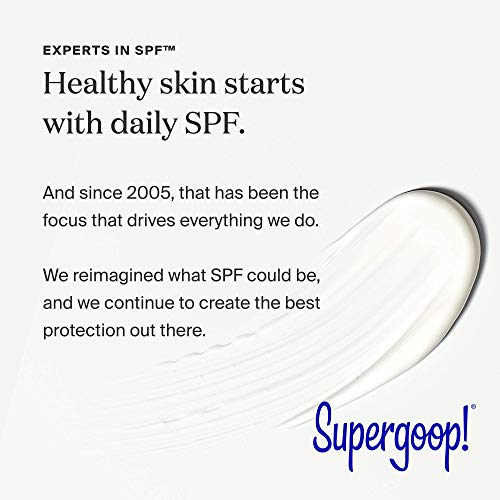 Supergoop! City Sunscreen Anti-Aging Serum SPF 30, 2 fl oz. - Lightweight, Antioxidant-Rich Morning Lotion - Hydrating Vitamin Serum for Face - Prep & Protect with Vitamins E, B5 - Great for Guys