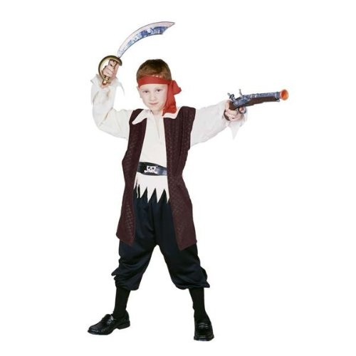 [RG Costumes Caribbean Pirate Costume, Black/Brown/White, Small] (Couple Costumes Black And White)