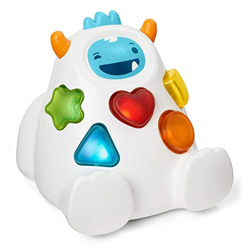 416FQ9KvBXL - Skip Hop Yeti Shape Sorter Explore & More 3-Stage Spinning & Sorting Developmental Learning Toddler Toy