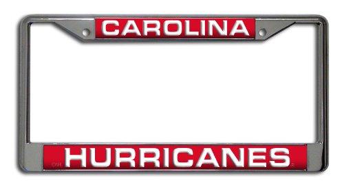 Rico Industries NHL Carolina Hurricanes Laser Cut Inlaid Standard Chrome License Plate Frame