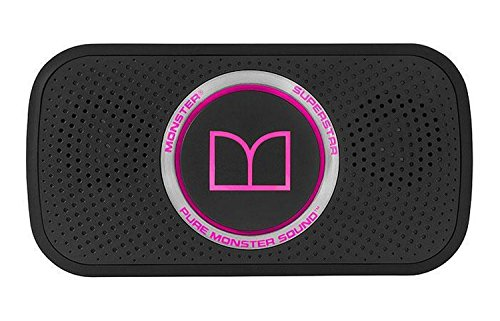 Monster SuperStar HD Bluetooth Speaker, Black/Neon Pink