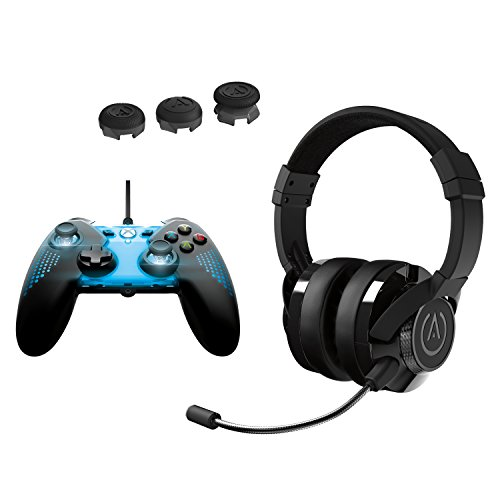 PowerA Spectra Illuminated Controller & Analog Caps with Universal Fusion Gaming Headset Kit - Xbox One
