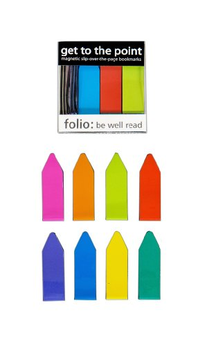 Get to the Point - Magnetic Slip-over-the-page Arrow Bookmarks (NEON - Box of 20) Multi Arrows