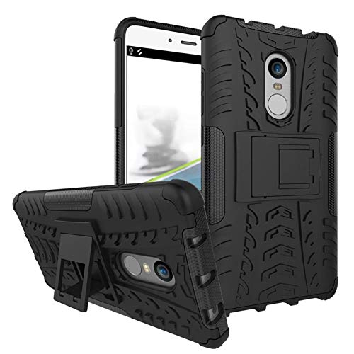 Bracevor Hybrid Back Cover Kickstand Case for Xiaomi Redmi Note 4   Black | Rugged Defender Cases   Covers