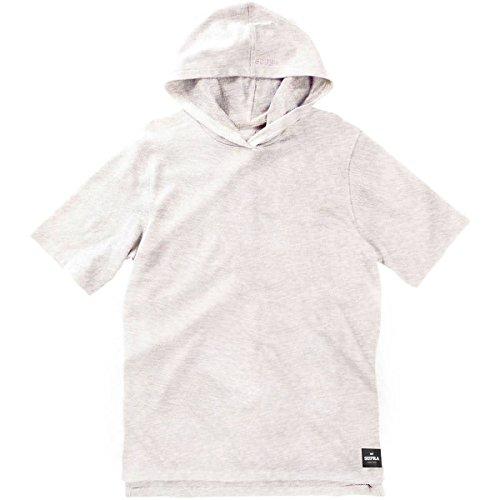 Supra Men's Upper Cut Hood Short-Sleeve Shirts,Medium,Oatmeal Heather