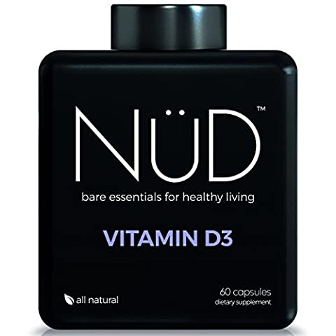 Vitamin D3 2000 IU by NuD - Best for Bones, Teeth, Circulation & Immune System - 100% All Natural Supplements for Whole Body Health - Helps prevent Osteoporosis and Arthritis - Made in USA