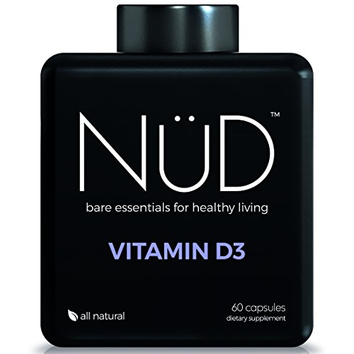 Vitamin D3 2000iu by NuD, Non-GMO, No Added Iron, No Artificial Colors / Dyes, 60 Easy-to-Swallow (Premier Labs Liquid Vitamin D)