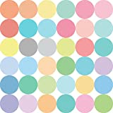 """36 Confetti Sorbet Colored 4"""" Polka Dots Wall Decals Stickers Repositionable Peel and Stick"""