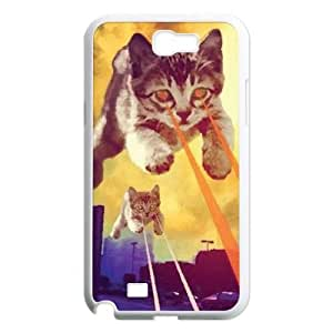 Lycase(TM) Cat With Lasers DIY Cover Case, Cat With Lasers Samsung Galaxy Note 2 N7100 Hard Back Case
