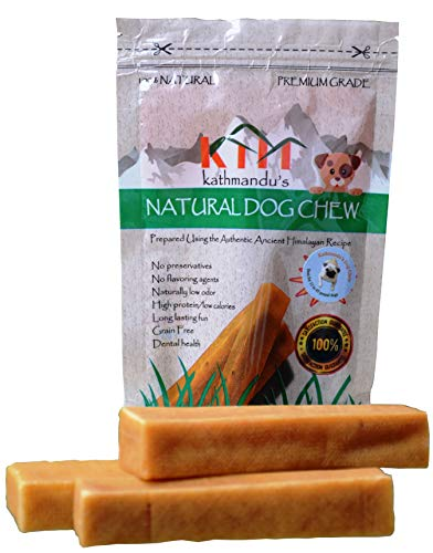 - KATHMANDU'S Natural Dog Chew Medium, 3-Count, 0.5 lb Bag