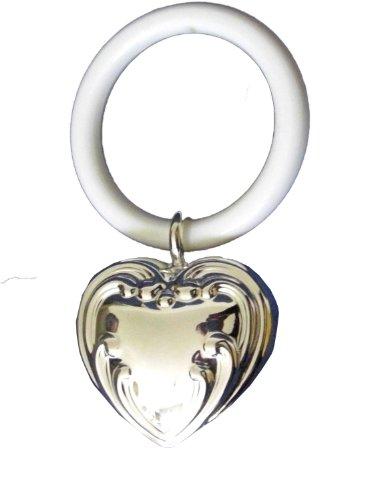 Kinderrassel mit Beissring Herz L9cm Silber Pl.