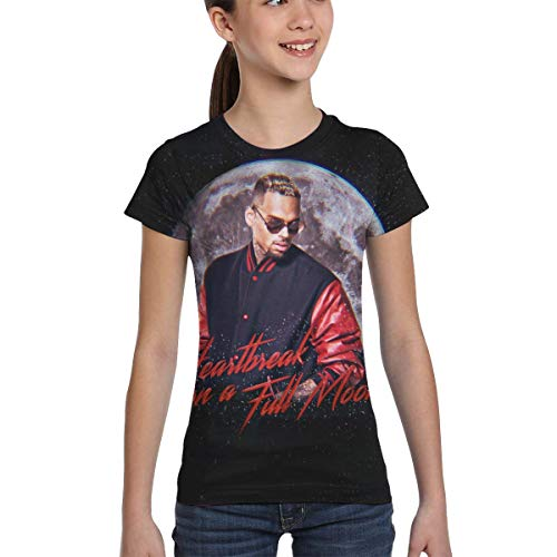 Chris Brown Heartbreak On A Full Moon Kids 3D Print Short Sleeve T Shirt