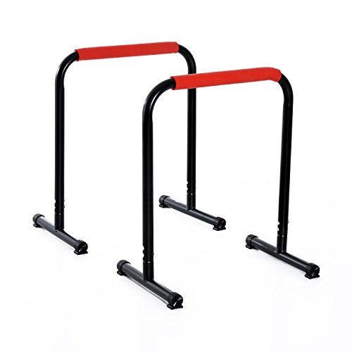 Soozier 29″ Durable Versatile Parallete Dip Station Home Gym Indoor/Outdoor Bars Exercise Equipment