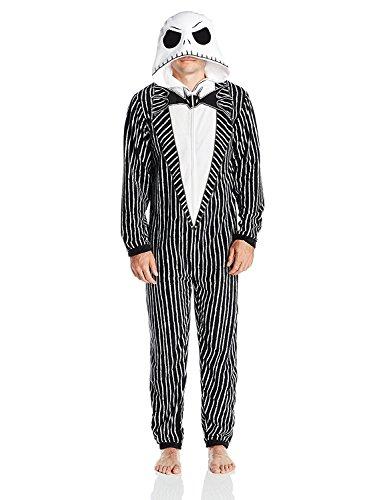 Disney Teen Jack - Disney Men's Nightmare Before Christmas Uniform Union Suit, Nightmare Black, M