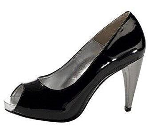 Ashley Brooke Womens Peeptoes Court Shoes Noir - Noir Ggc1htQmO