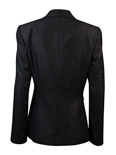 Tahari By ASL Dark Womens Plus Single-Button Blazer @080 Gray 24W