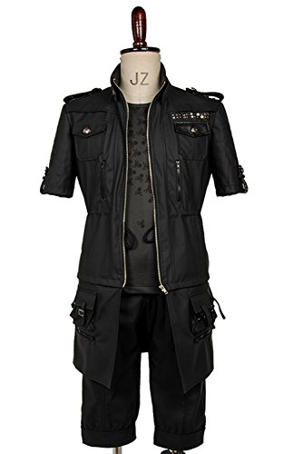 Halloween Female Party Black Uniform Lucis Caelum Noct Outfit Cosplay Costume (2)