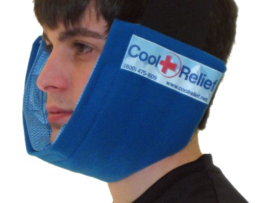 UPC 854320002189, Jaw Ice Pack, Cold Wrap by Cool Relief (2 Removeable Inserts)